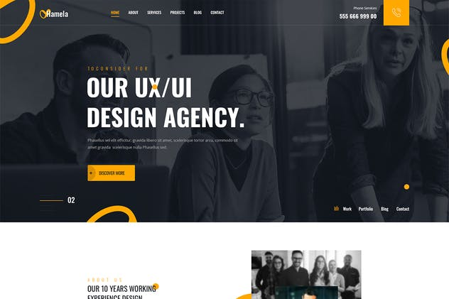 Hamela - Digital Agency Services PSD Template