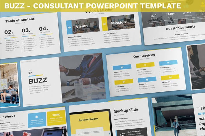 Thumbnail for Buzz - Consultant Powerpoint Template