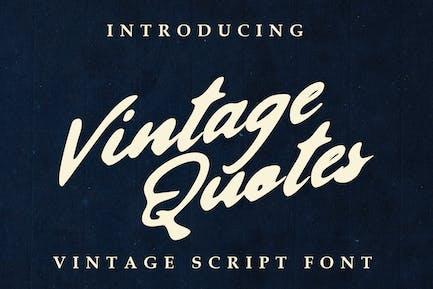 Citations vintage