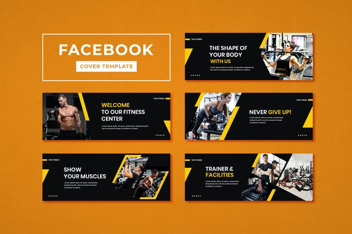 Thumbnail for Facebook Cover Template Fitness