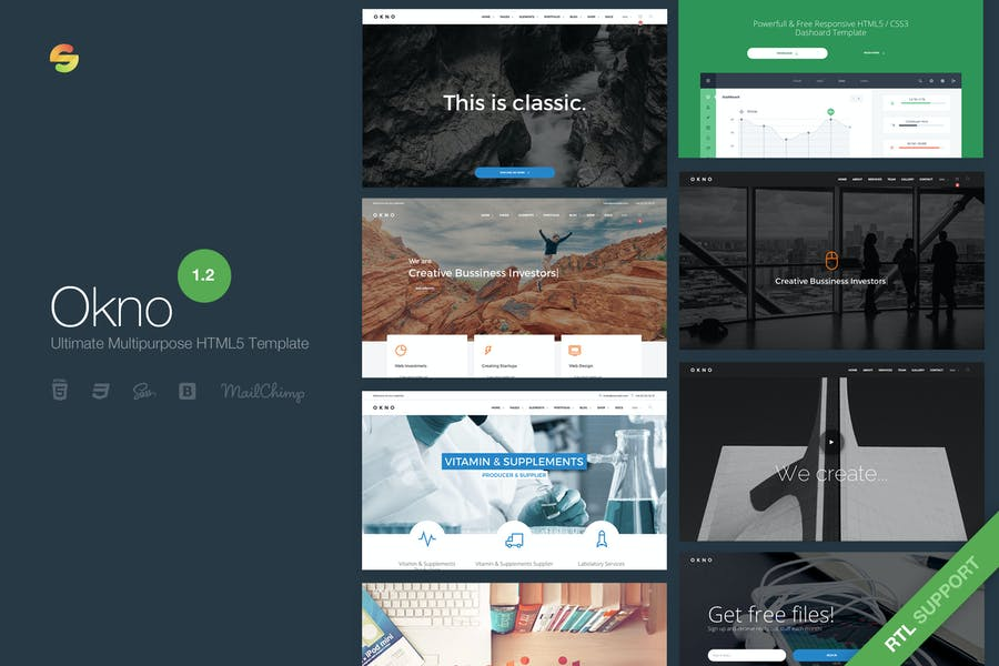 Okno - Ultimative Multipurpose HTML5-Vorlage