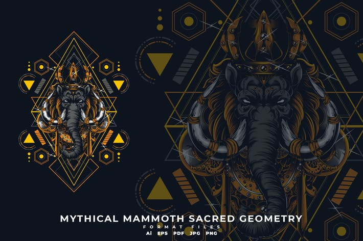 Thumbnail for MYTHICAL MAMMOTH SACRED GEOMETRY