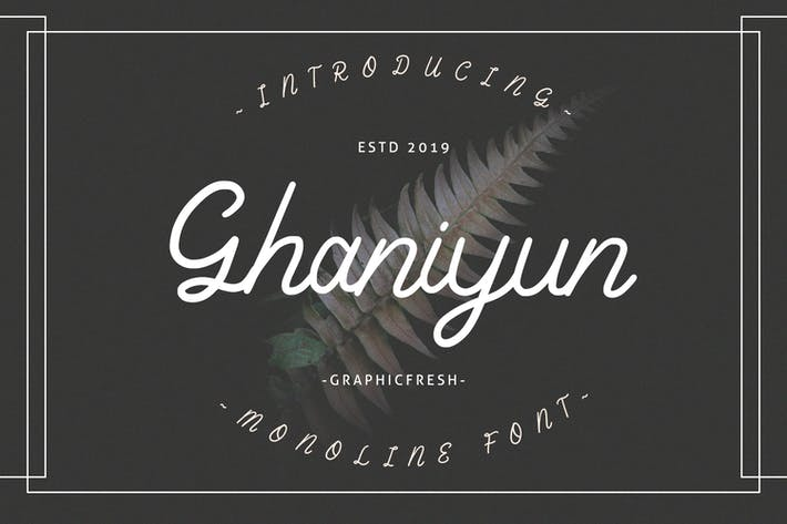 Thumbnail for Ghaniyun Monoline Font