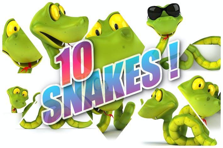 10 fun Snakes !