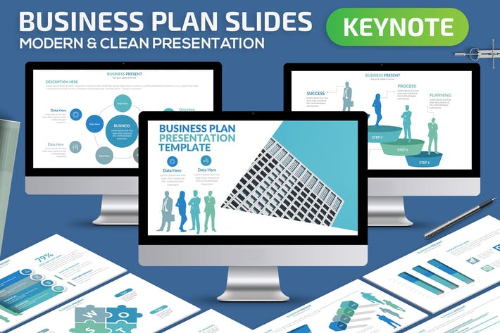Cover Image For Business Plan Keynote Presentation