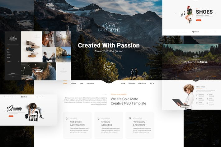 Thumbnail for GoldMate - Multipurpose PSD Template