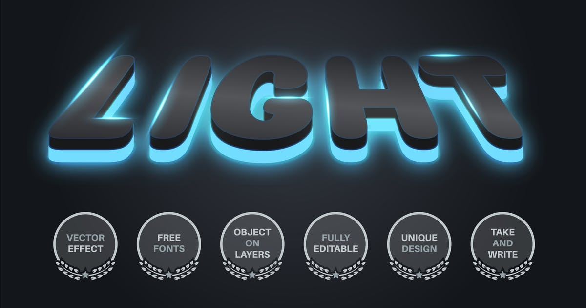 Download Dark glow - editable text effect,  font style by rwgusev