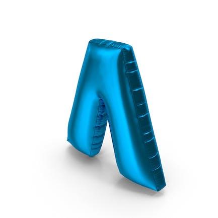 Foil Balloon Circumflex Blue