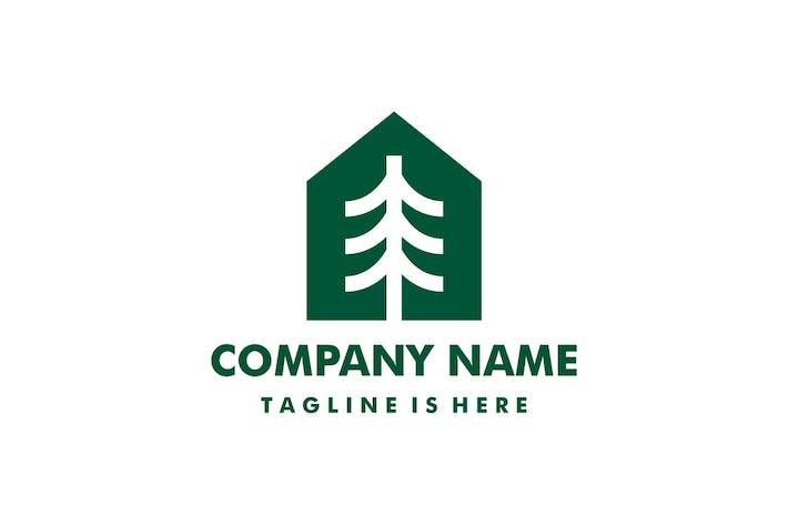 Pine Tree House Home Logo