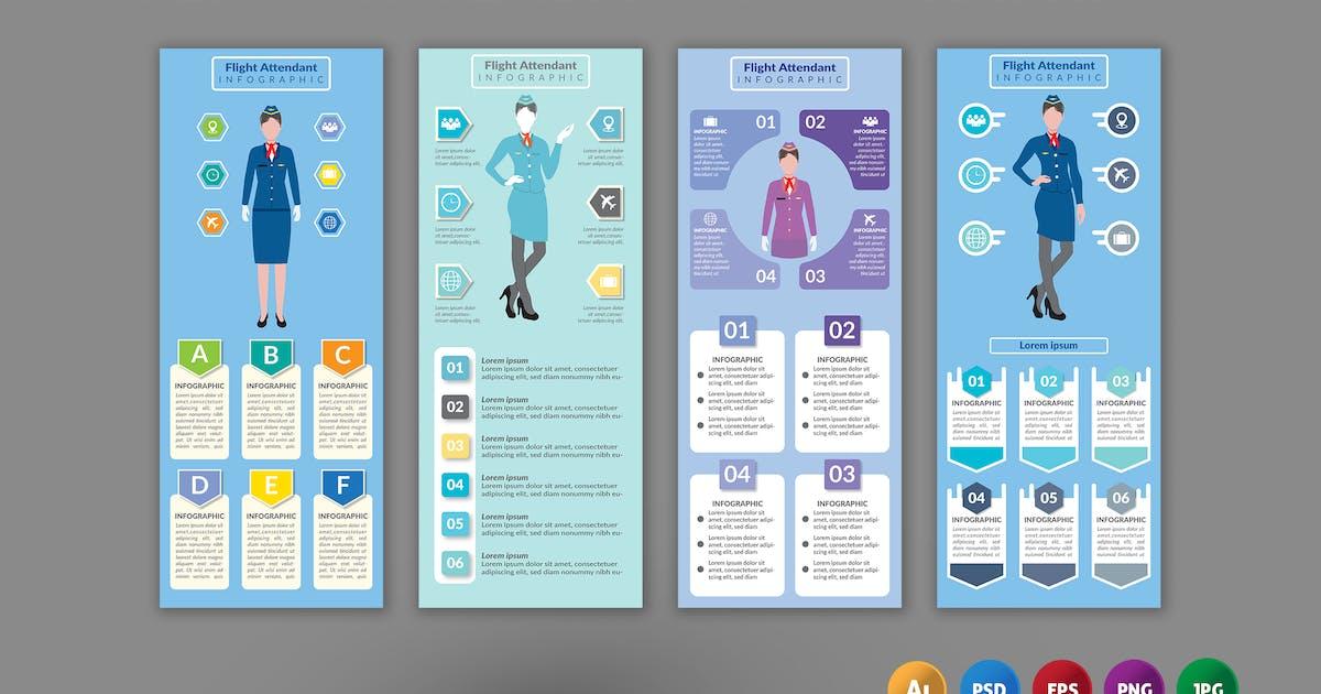 Download Flight Attendant – Infographics Design by designesto