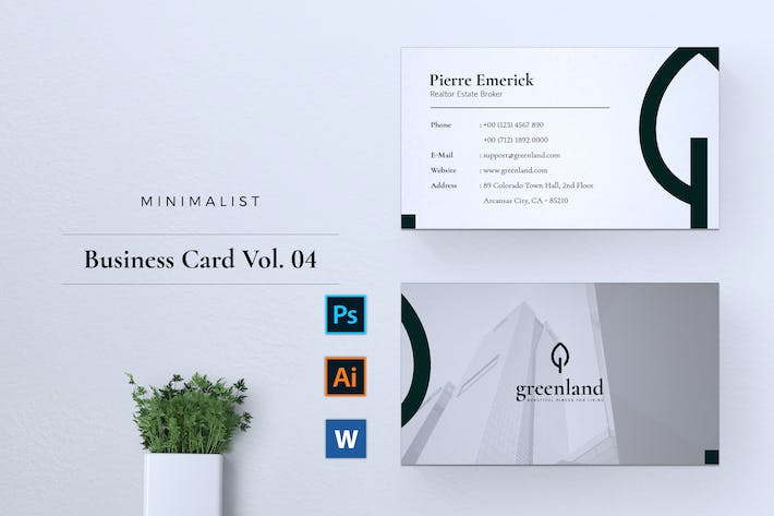 Thumbnail for Minimalist Business Card Vol. 04