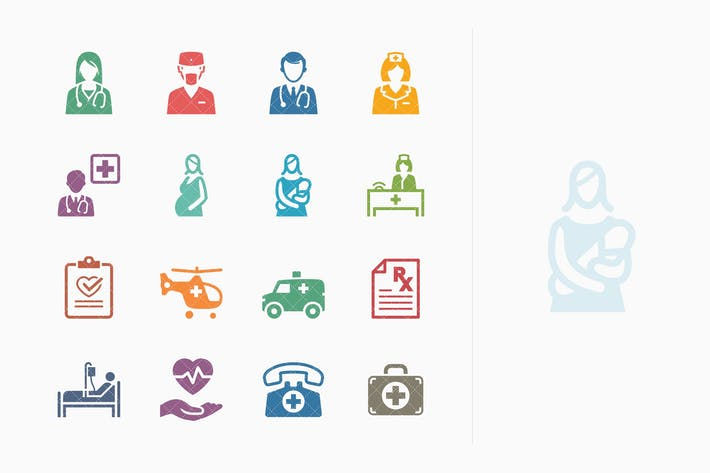 Medical Services Icons Set 1 - Colored Series