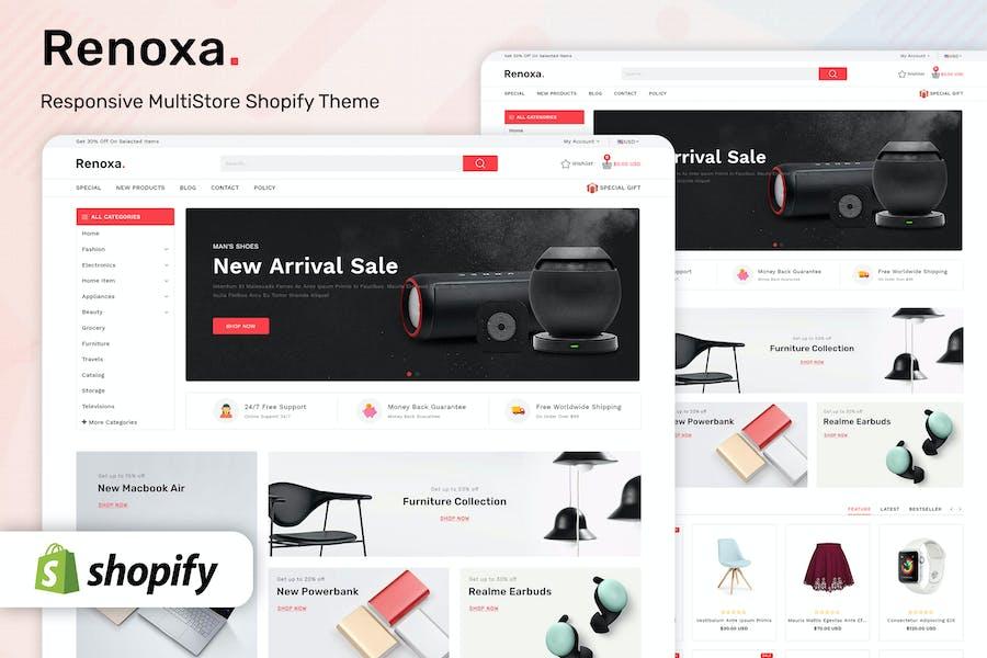 Renoxa - Plantilla Shopify multipropósito de comercio electrónico