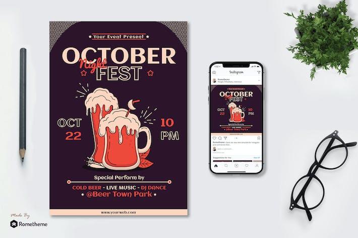 Thumbnail for October Night Fest - Flyer & Instagram Post GR
