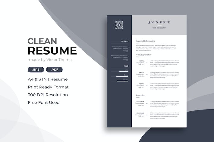 Thumbnail for Web Developer CV Template
