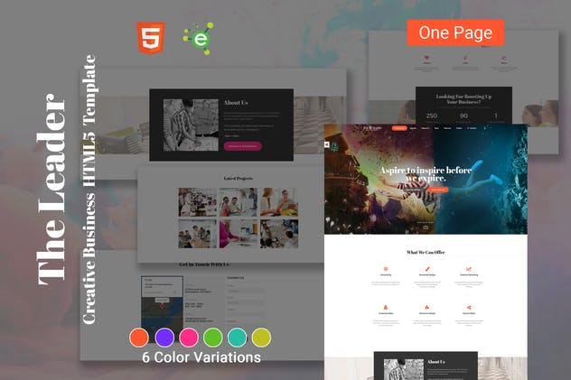 The Leader - Creative Business HTML5 Template