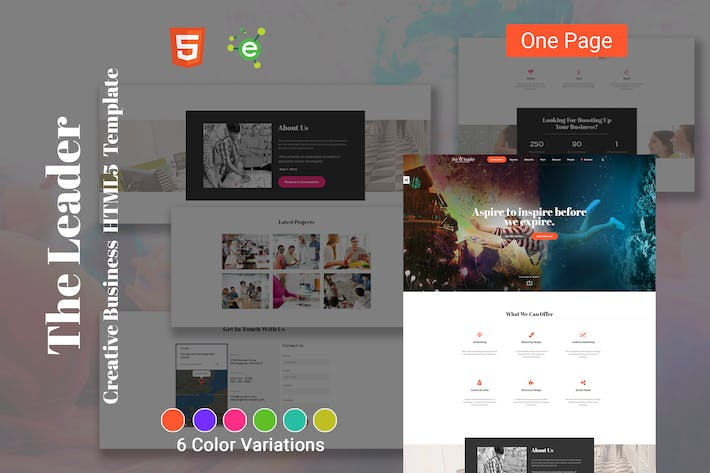 Thumbnail for The Leader - Creative Business HTML5 Template