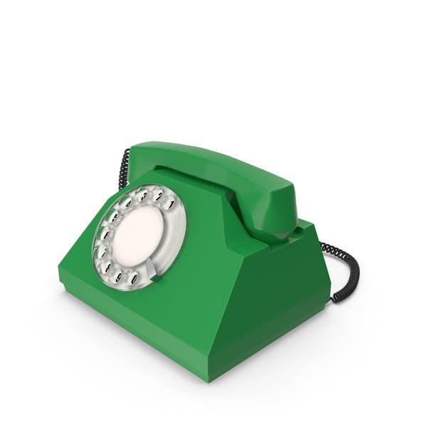 Grünes Vintage-Telefon