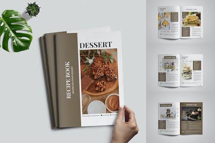 Dessert-Rezeptbuch-Vorlage