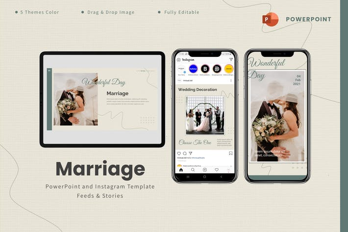 Marriage  - Powerpoint & Instagram Template