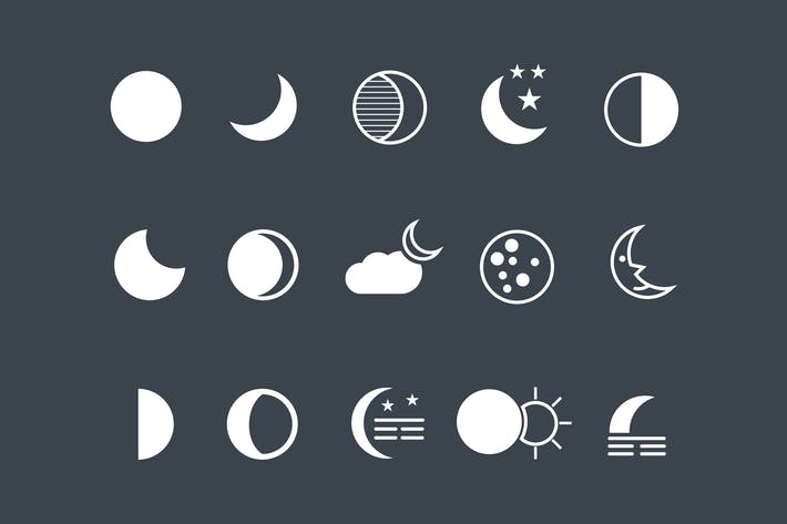 Thumbnail for 15 Moon Icons