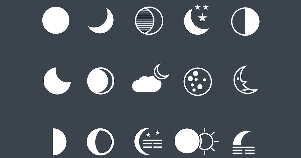 Download 15 Moon Icons by creativevip