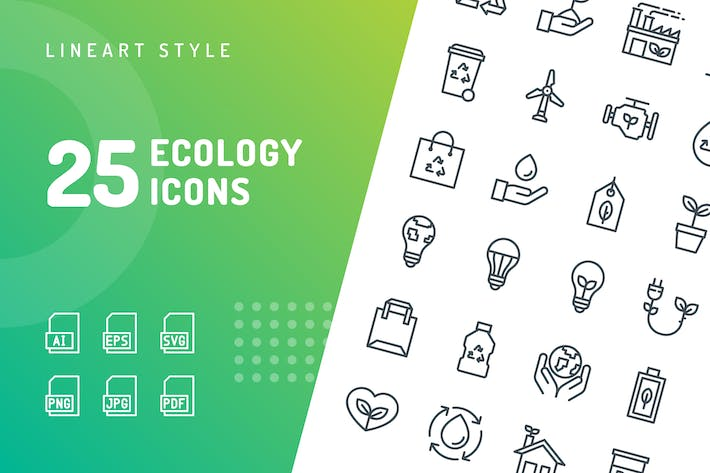 Thumbnail for Ecology Line Icons