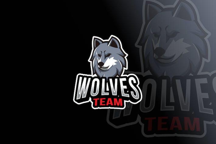 Thumbnail for Wolves Team Logo Template
