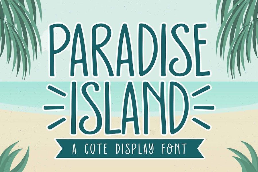 Paradise Island Cute Display
