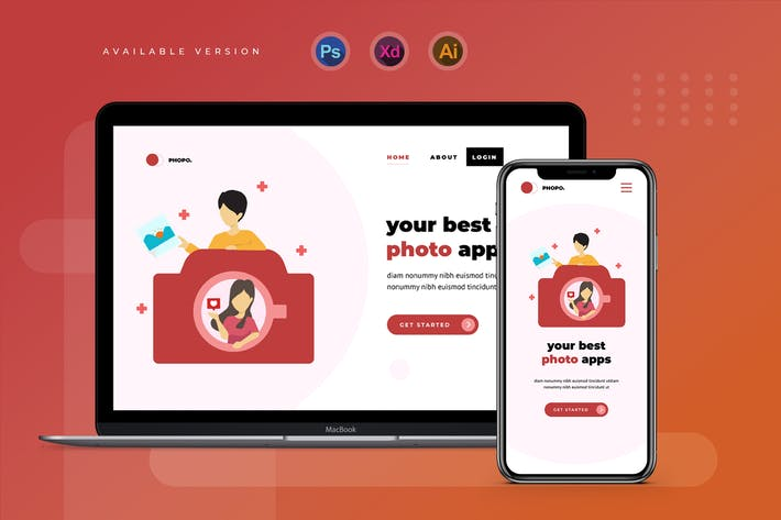 Thumbnail for Photo apps - Banner & Landing Page