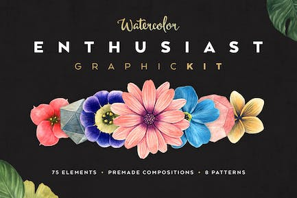 Watercolor Enthusiast Graphic Kit