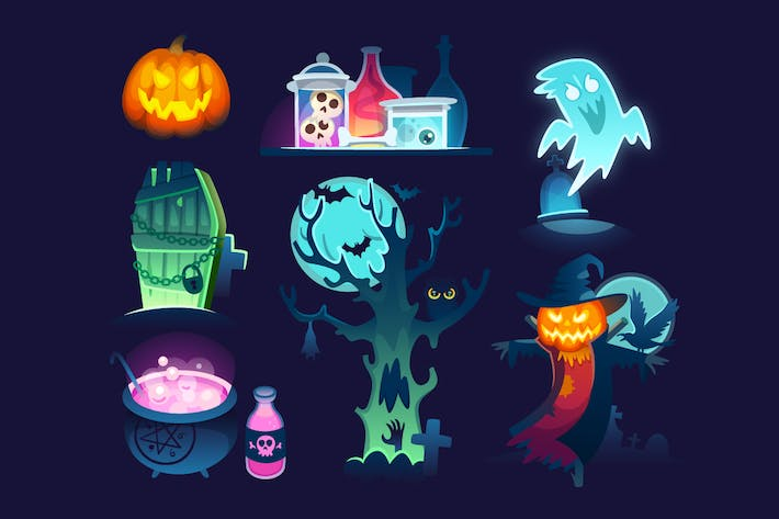 Thumbnail for Halloween Illustrations