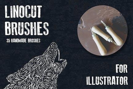 Кисти Linocut для Adobe Illustrator