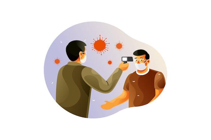Check body temperature to fight against corona
