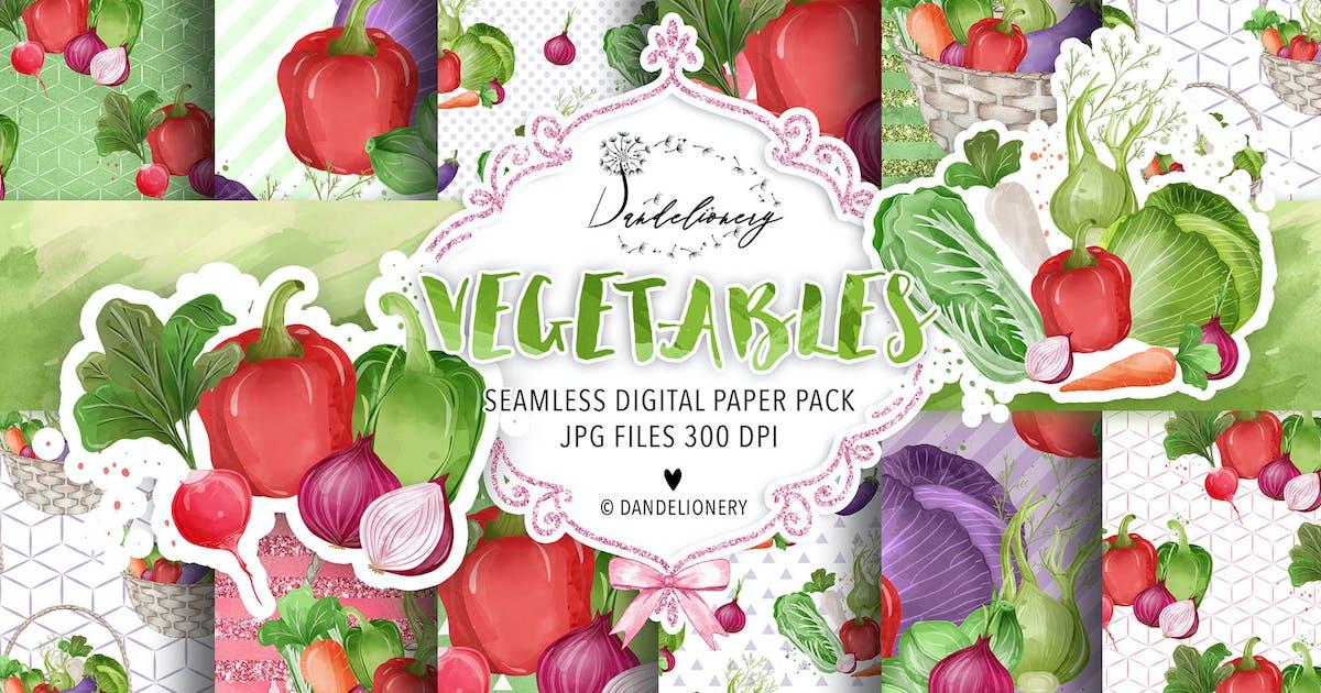 Download Vegetables digital paper pack by designloverstudio