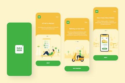 Onboarding — Food Delivery Mobile UI Kit nft