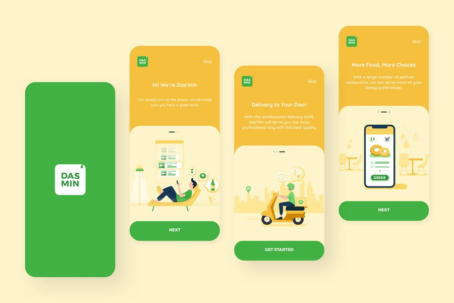 Onboarding – Food Delivery Mobile UI Kit nft