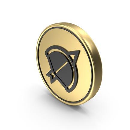 Arco Flecha Juego Moneda Logo Icono
