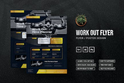 Work Out Planer - Flyer