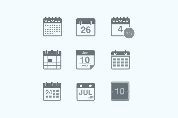 Thumbnail for 9 Calendar and Date Icons