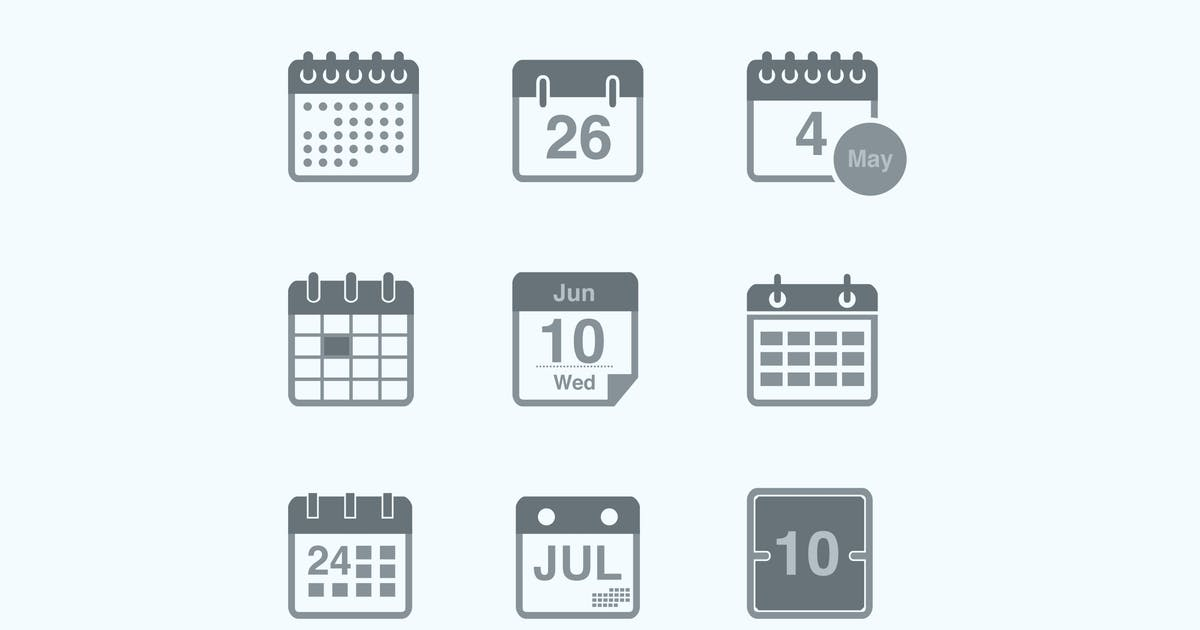Download 9 Calendar and Date Icons by Unknow