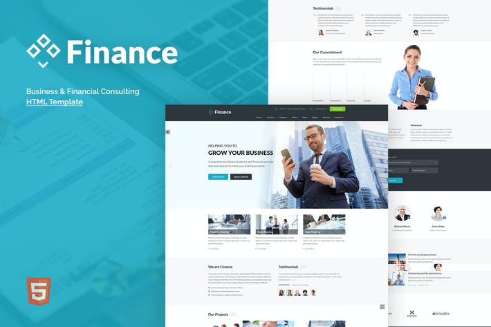Thumbnail for Finance - Business & Financial HTML5 Template