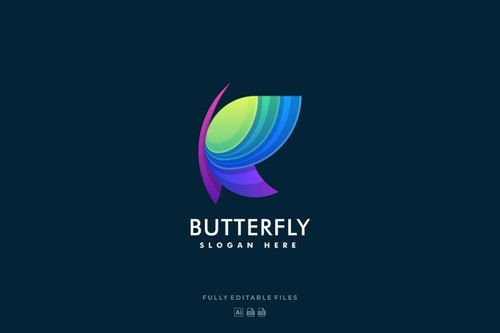 Abstract Butterfly Colorful Logo
