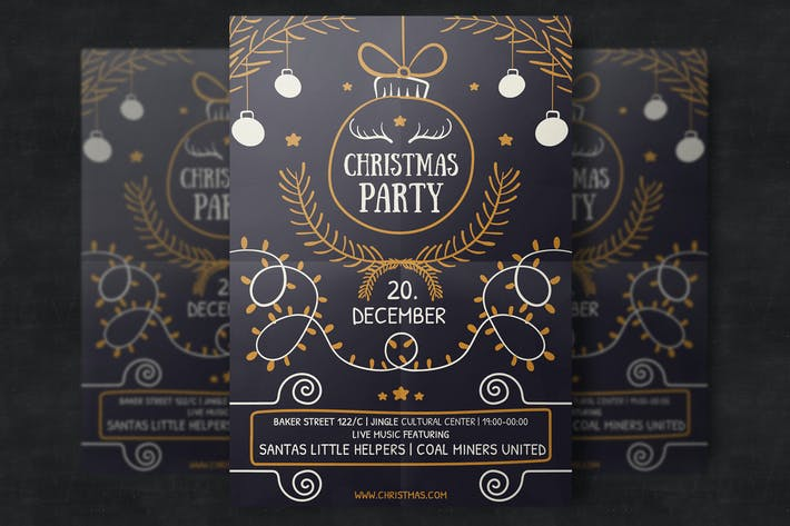 Thumbnail for Hand-Drawn Christmas Flyer Template