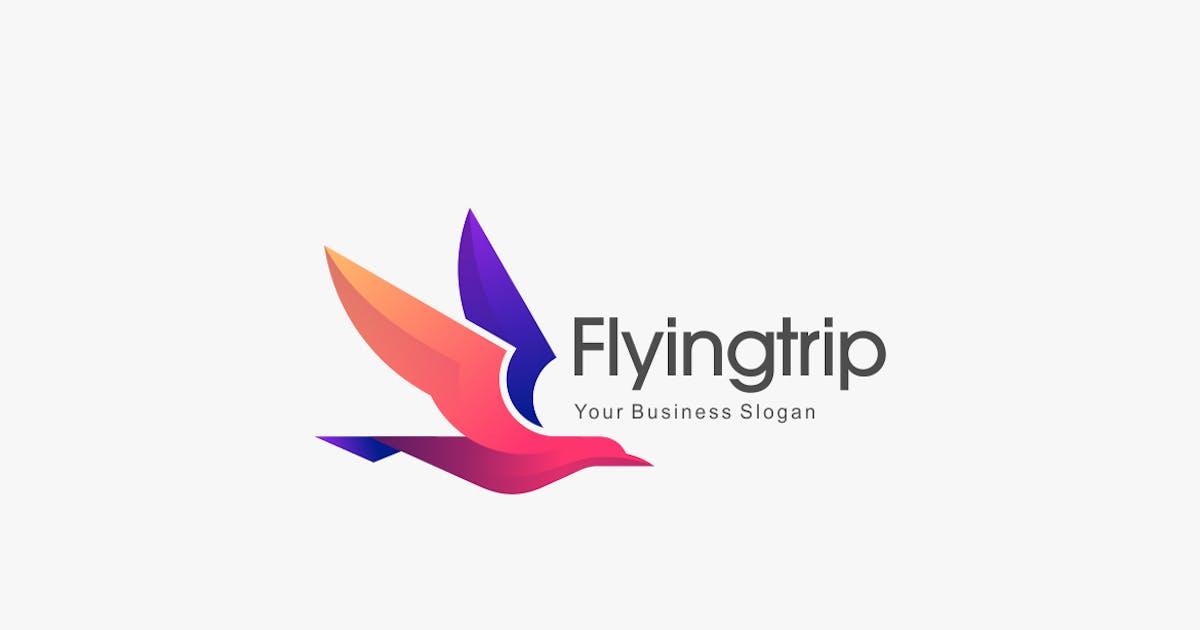 Download Bird Flying Gradient Colorful Logo Template by ivan_artnivora