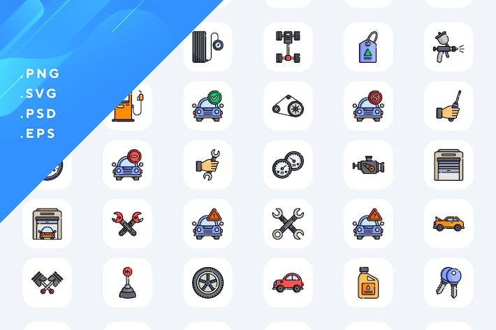 Thumbnail for 50 Auto-Garage-Icons