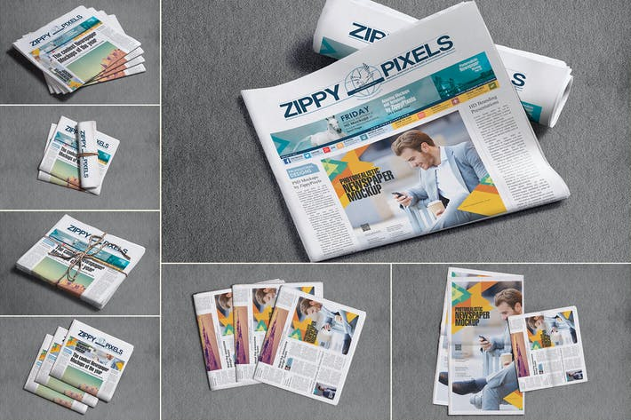 Broadsheet Newspaper Mockups