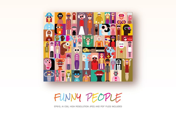 Thumbnail for Funny People vector illustration