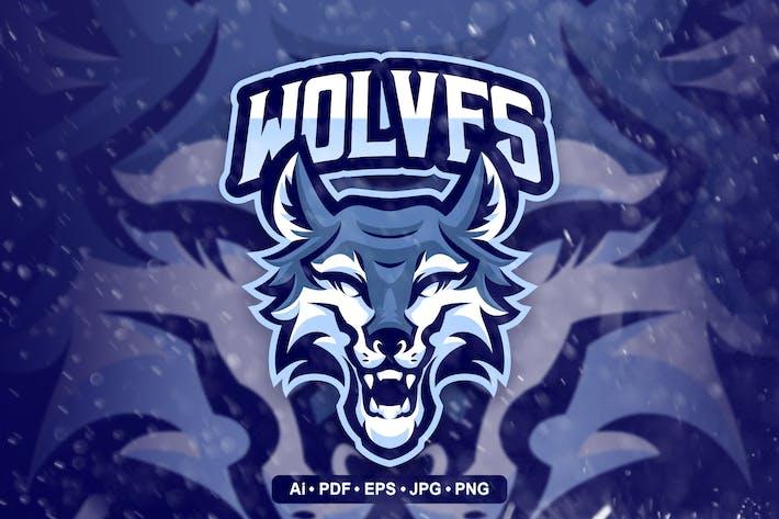 Wolves Mascot Logo Template