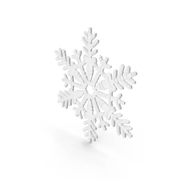 Снежинка Белый